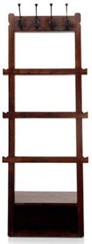 Urban Ladder Alfred Solid Wood Coat and Umbrella Stand(Finish Color - Mahogany)