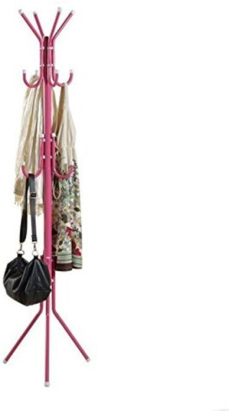 MSE Modern Creative Fashion Hanging Cloth Metal Coat Stand(Finish Color - Pink)