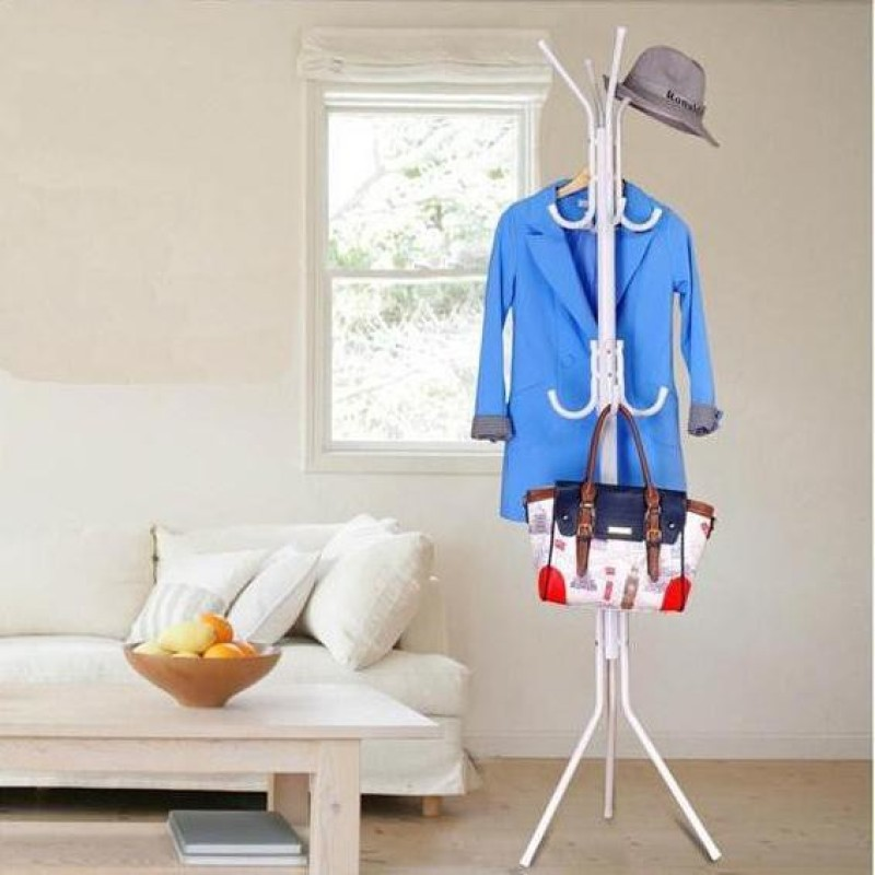 MSE Modern Creative Fashion Hanging Cloth Metal Coat Stand(Finish Color - White)
