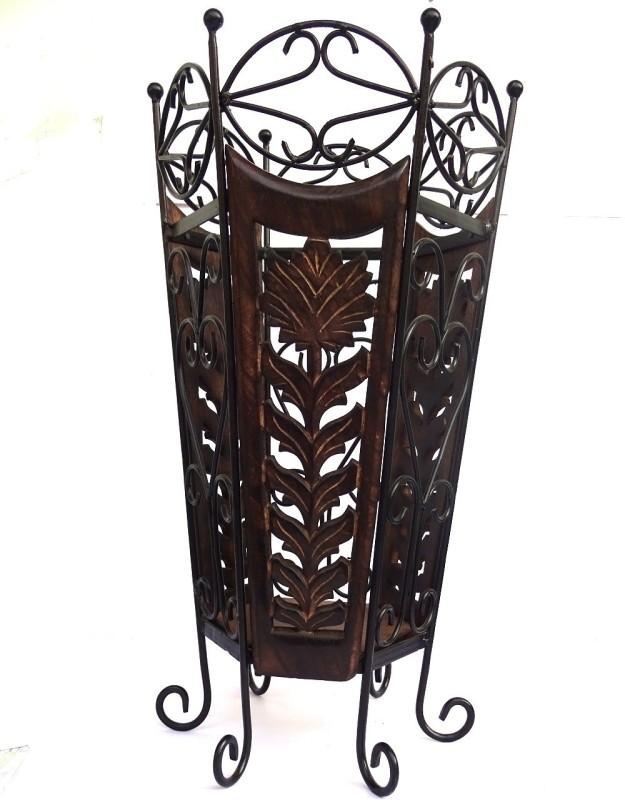 Woodpedlar Solid Wood Umbrella Stand(Finish Color - Dark Brown)