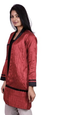 Pamposh Creations Women's Single Breasted Wrap Coat