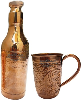 Indian Craft Villa 1600 ml Copper Cocktail Shaker