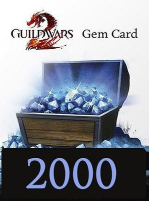 Guild Wars 2 Gems 2000 Gamecard Global with Game and In Game Credit