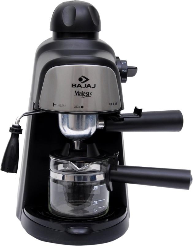 Bajaj Majesty CEX11 4 Cups Coffee Maker(Black)