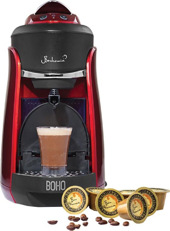 Bonhomia BB01RBF03B 1 cups Coffee Maker(Red)