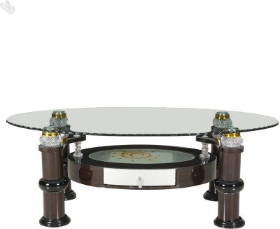 Royal Oak Lotus Engineered Wood Coffee Table(Finish Color - Honey Brown)