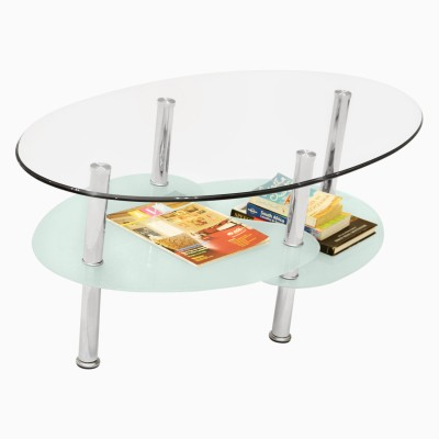 Godrej Interio GLOW COFFEE TABLE Glass Coffee Table(Finish Color - Silver)