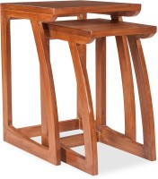 Durian Solid Wood Coffee Table(Finish Color - Teak)