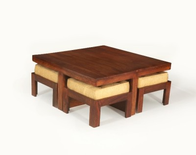 LifeEstyle Solid Wood Coffee Table(Finish Color - Brown)
