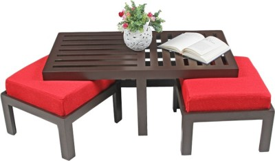 ARRA Engineered Wood Coffee Table(Finish Color - Red)
