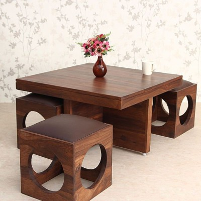 Ethnic Handicrafts Solid Wood Coffee Table