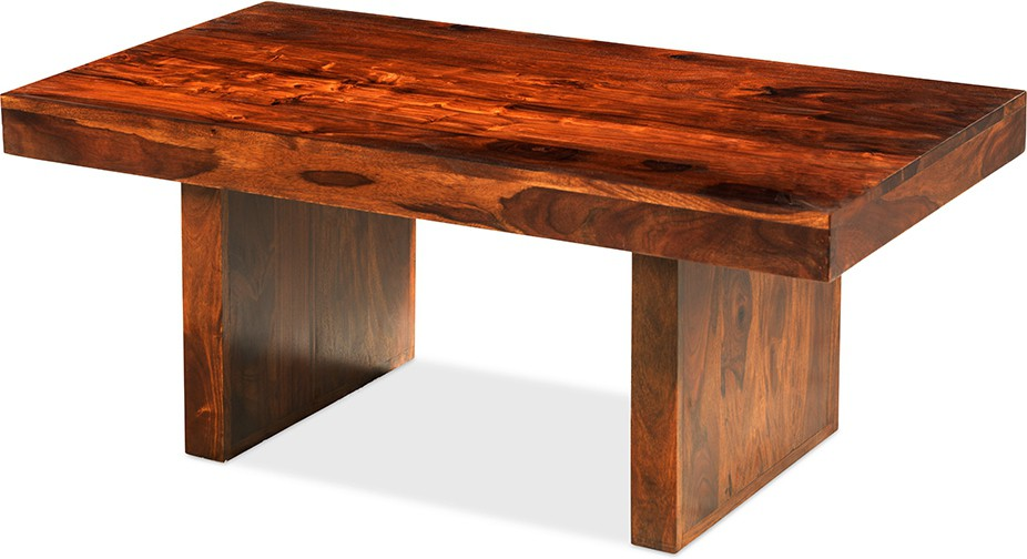 View Jivan Solid Wood Coffee Table(Finish Color - Brown) Furniture (Jivan)
