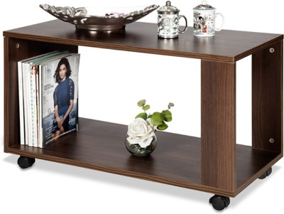 Debono Nutty Coffee Table on Castors Engineered Wood Coffee Table(Finish Color - Brown)