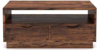 Urban Ladder Zephyr Storage Solid Wood Coffee Table(Finish Color - Teak)