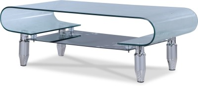 Durian ZEE/34489 Glass Coffee Table(Finish Color - Clear)