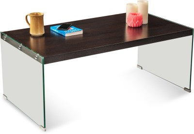 Durian BLAKE Glass Coffee Table(Finish Color - Dark Brown)