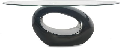Godrej Interio Glass Coffee Table(Finish Color - black)