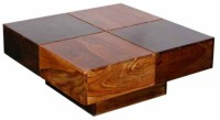 The Attic Solid Wood Coffee Table(Finish Color - Dual Tone)