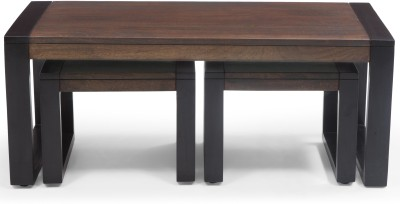 Urban Ladder Altura with Stools Solid Wood Coffee Table(Finish Color - Two-Tone)