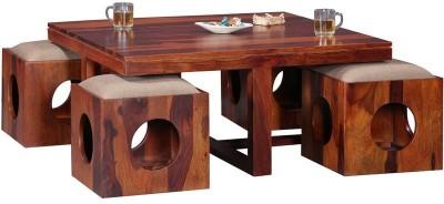 Ringabell Kahava Solid Wood Coffee Table(Finish Color - Honey)