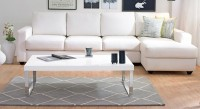 Urban Ladder Marcel Large Engineered Wood Coffee Table(Finish Color - White Gloss)
