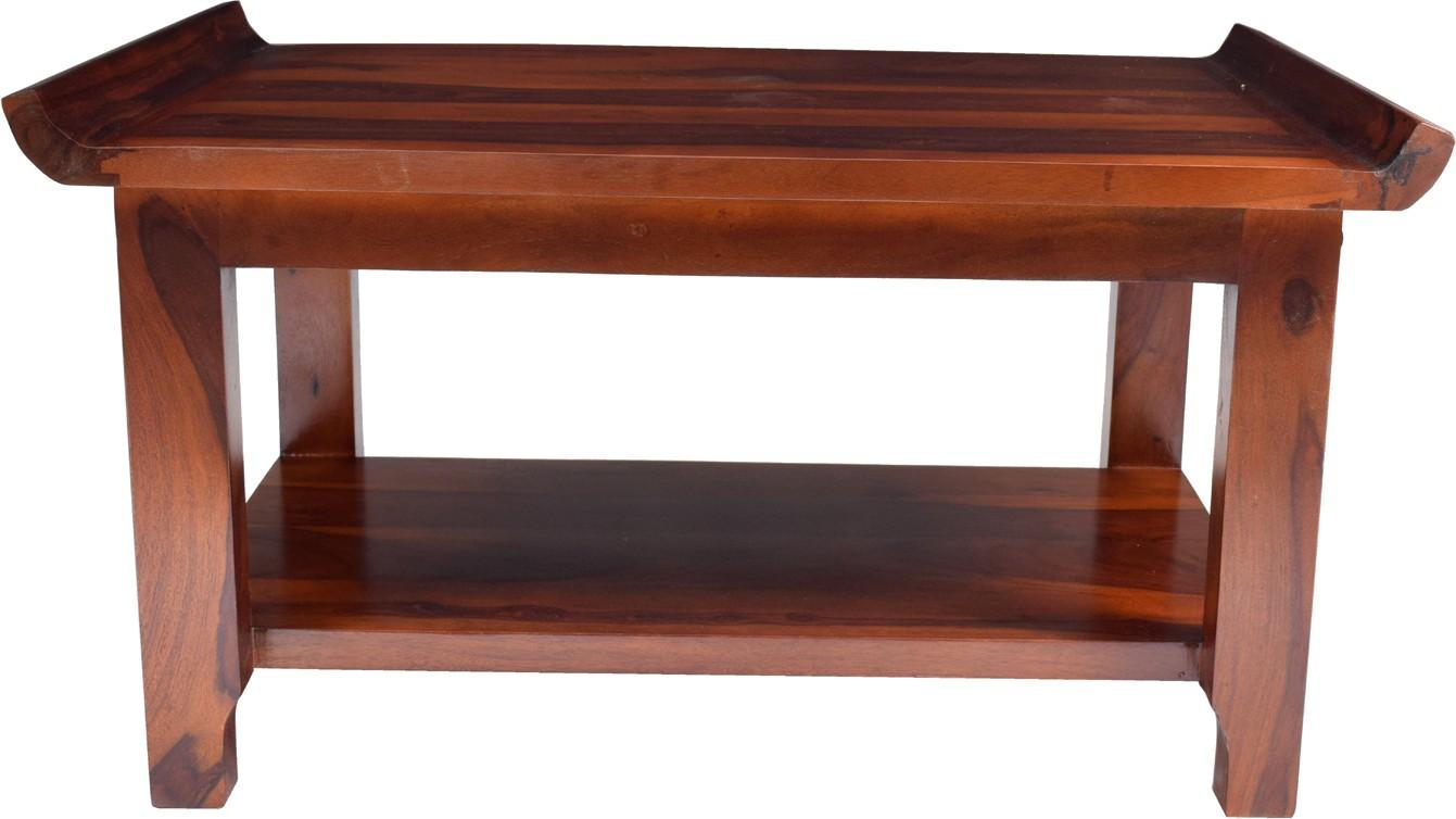 View aAdinath Solid Wood Coffee Table(Finish Color - Walnut Brown) Furniture (aAdinath)