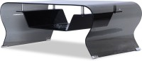 Durian ZEE/34491 Glass Coffee Table(Finish Color - Black)