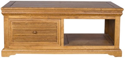 HomeTown Denver Solid Wood Coffee Table(Finish Color - Brown Oak)