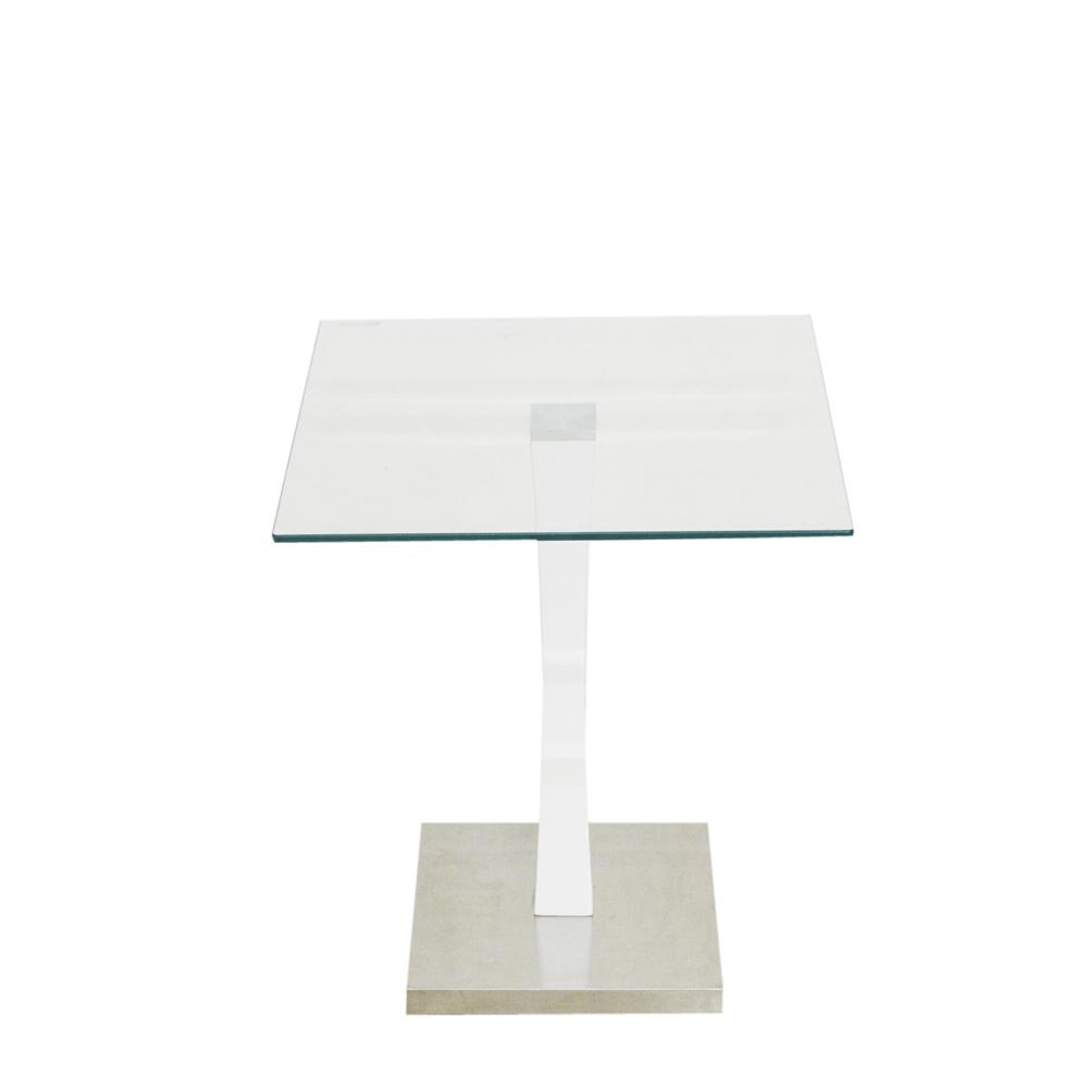 View Ambience Interior Mall Designer Corner Glass Coffee Table(Finish Color - White Silver) Furniture (Ambience Interior Mall)