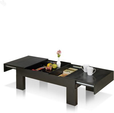 Royal Oak Daffodil Engineered Wood Coffee Table(Finish Color - Black)