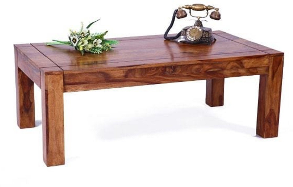 View Home Edge Solid Wood Coffee Table(Finish Color - Teak Finish) Furniture (Home Edge)