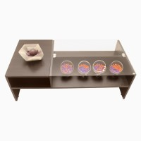 Godrej Interio ACURA COFFEE TABLE WENGUE PLUS Glass Coffee Table(Finish Color - Wengue)