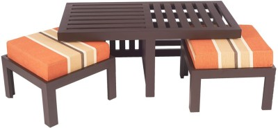 ARRA Engineered Wood Coffee Table(Finish Color - Rust Lines)