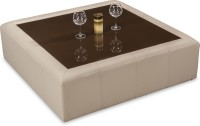 Durian TUCSON/CT/B Glass Coffee Table(Finish Color - Beige)