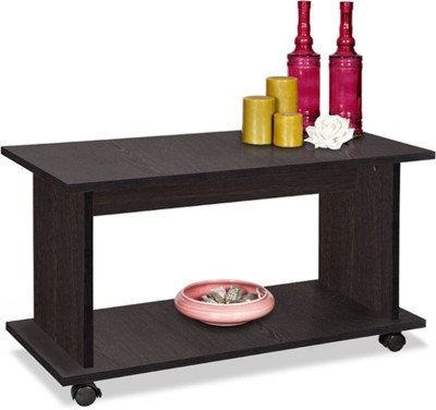 Debono Olive Coffee Table on Castors Engineered Wood Coffee Table(Finish Color - Wenge)