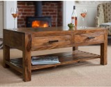 LifeEstyle Solid Wood Coffee Table (Fini...