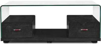 HomeTown Glass Coffee Table(Finish Color - Dark Brown)
