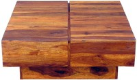 The Attic Solid Wood Coffee Table(Finish Color - Teak)