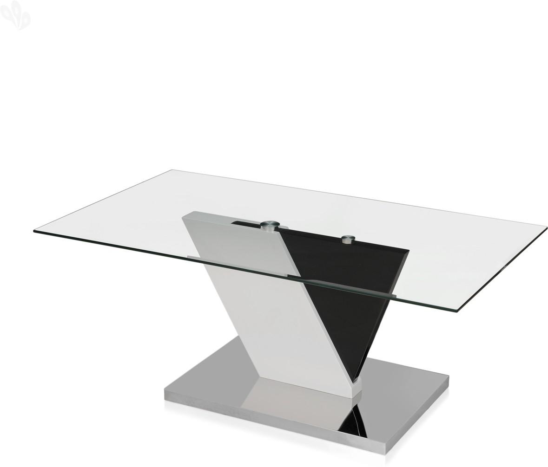 View Royal Oak Glass Coffee Table(Finish Color - White) Furniture (Royal Oak)
