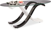 Durian Glass Coffee Table(Finish Color - Black)