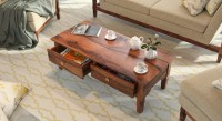 Urban Ladder Malabar Solid Wood Coffee Table(Finish Color - Teak)