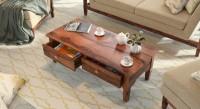 Urban Ladder Malabar Solid Wood Coffee Table(Finish Color - Teak)