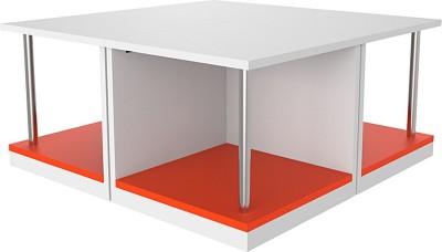 North Star Fixture & Furniture Pvt. Ltd. LEWIS 4-in-1 Engineered Wood Coffee Table