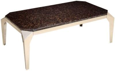 HomeTown Mirage Marble Metal Coffee Table