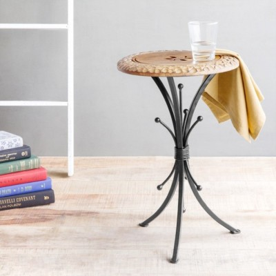 Onlineshoppee Solid Wood End Table