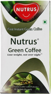Nutrus Green Instant Coffee 40 g(Pack of 1 Green Coffee Flavored)