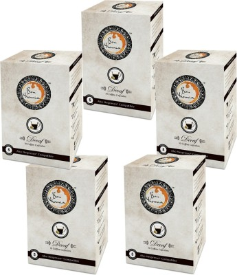 Bonhomia Decaffeinated Filter Coffee 50 Sachets(Pack of 5 Plain Flavored)