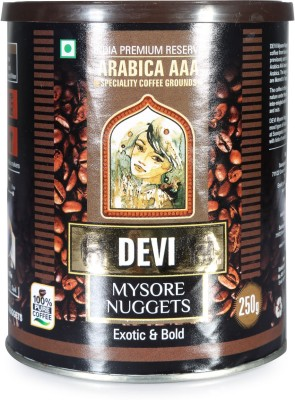 Devi Mysore Nuggets Arabica AAA Beans Filter Coffee 250 g(Pack of 1 Unflavoured Flavored)