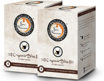 Bonhomia Organic Bliss Intensity 4 Filter Coffee 20 Sachets(Pack of 2 Unflavoured Flavored)