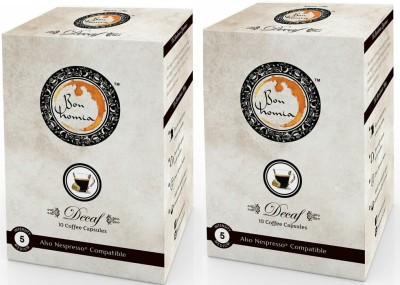 Bonhomia Decaffeinated Filter Coffee 20 Sachets(Pack of 2 Plain Flavored)